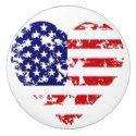 Patriotic Heart Ceramic Pull or Knob