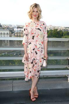 Клеманс Поэзи в Chloé на презентации аромата Love Story в Париже