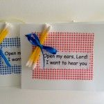 Q-tip palanca/agape idea 'Open My Ears Lord' is handmade, prayer covered and an uplifting gift perfect for a women's weekend. Church Activities, Bible Activities, Sunday School Lessons, Sunday School Crafts, Kids Church, Church Ideas, Church Camp, Secret Sister Gifts, Children's Church Crafts