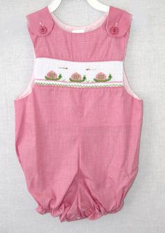 412128 -A128- Baby Girl ClothesBaby Girl Bubble - Baby Bubble- Smocked Baby Bubbles - Baby Bubble Suit - Baby Bubble Romper - Smocked Romper