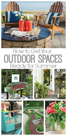 How to get your outdoor spaces ready for summer!  Free printables included.
