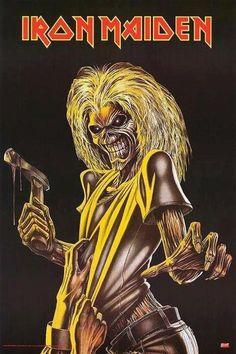 iron maiden the killers Heavy Metal Rock, Heavy Metal Music, Heavy Metal Bands, Iron Maiden Album Covers, Iron Maiden Albums, Hard Rock, Hellboy Tattoo, Iron Maiden Posters, Iron Maiden Band