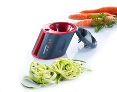 Με τον κόφτη λαχανικών Duolo της Westmark μπορείτε να κόψετε τα λαχανικά σε σχήμα σπιράλ ή ζουλιέν σε 2 διαφορετικά μεγέθη.