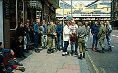 Skinheads on Queen's Road in Brighton
