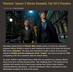 At last. RISE UP, SHERLOCKIANS!! RISE UP!!! Moffat, if this is the last season, I WILL MURDER YOU.