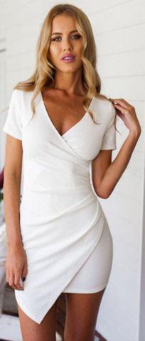 Beautiful Slim V Neck Pencil Dress