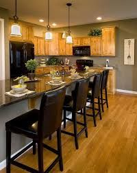 Image result for paint colours for kitchen with oak cabinets