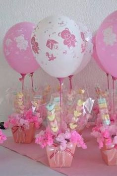 Baby shower ideas centros de mesa para Ideas for 2019 Shower Party, Baby Shower Parties, Baby Shower Themes, Shower Gifts, Shower Ideas, Balloon Decorations, Birthday Decorations, Birthday Centerpieces, Balloon Centerpieces