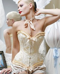 Before the Ball... wearing a corset while trying to breathe & look wonderful at the same time was an art.  She definately had the knack!