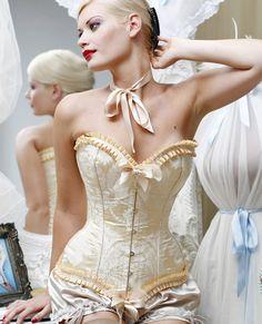 Ivory Grace Corset-Corsets & Bustiers-Sexy Lingerie