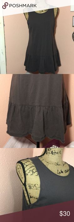NWOT Free People sleeveless dress with ruffle hem NWOT Free People sleeveless dress with ruffle hem size M Free People Dresses Mini