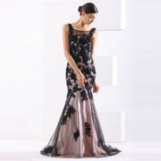 Floral Lace Mermaid Prom Dress Formal Dress Handmade