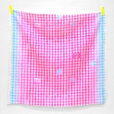 Shop | Category: Basics, Dots, Stripes & More | Product: Nani Iro 2013 - Painting Check - Ladyhug