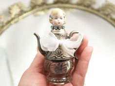 Tiny Teapot Art Doll Assemblage Art Doll by loreliekaydesigns, $15.00