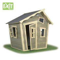Kinder-Spielhaus EXIT Crooky 100 Kinderspielhaus Holzhaus - Sehr liebevoll gestaltetes, vorangestrichenes Spielhaus mit Türen und Fenster zum Verschließen.