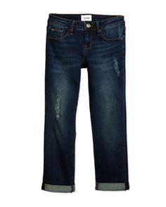 -5VNE Hudson Boyfriend Distressed Jeans, Orion