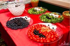 Elmo Party tray display for E's 2nd b-day party!!! :)
