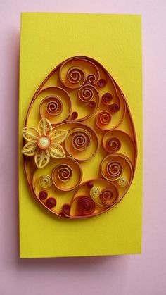 Quilling Easter Egg Card Happy Easter Card Handmade от Evashop74