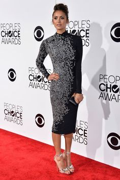Nina Dobrev de Jenny Packham - People's Choice Awards 2014
