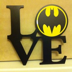 Shabby Chic Love Batman Bat Man Sign Christmas birthday present aniversary 290mm
