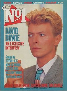 David Bowie on the cover of No.1 Magazine in September 1983