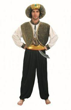 Garçons Filles Rayé Arabian Nights Désert Arabe Fancy Dress Costume Outfit 3-12yrs
