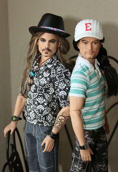 Johnny Depp and Friend Male Fashion Dolls, by napudollworld, via Flickr.