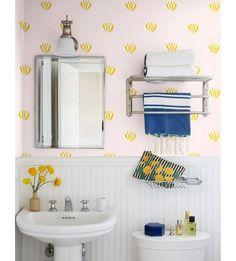 Lotus Wallpaper by Clare V., Marigold