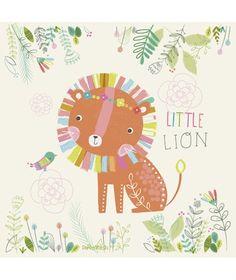 lilipinso - Tableau enfant lion safari