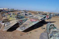balad mig 23s Abandoned MiG 23 Floggers at Joint Base Balad