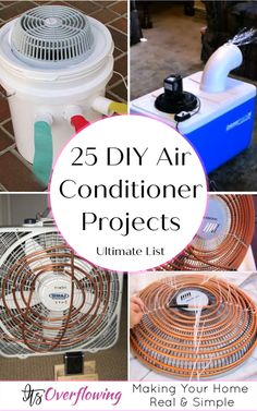 Need a handmade air conditioner to cut electricity cost and keeps you cool all the summer? Then try these 25 inexpensive DIY air conditioner projects! Battery Powered Air Conditioner, Bucket Air Conditioner, Homemade Air Conditioner, Cheap Air Conditioner, Redneck Air Conditioner, Homemade Shampoo, Homemade Ac, Diy Ac, Diy Cooler
