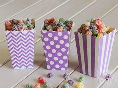 #Caja de palomitas para decorar tu mesa. #Decoración para #Fiestas, #Cumpleaños, #Bodas, #BabyShower, #Comuniones, #FiestasInfantiles, etc