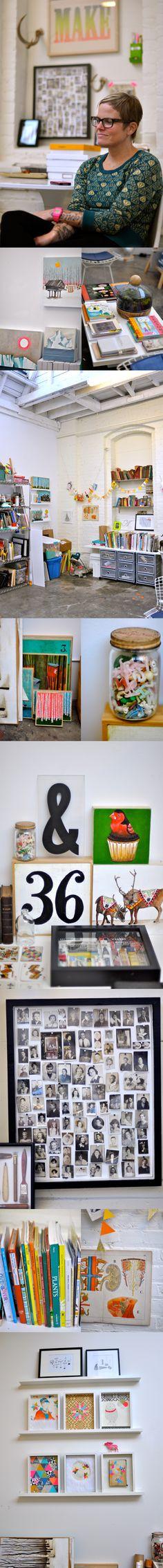 Lisa Congdon's studio via @sfgirlbybay *