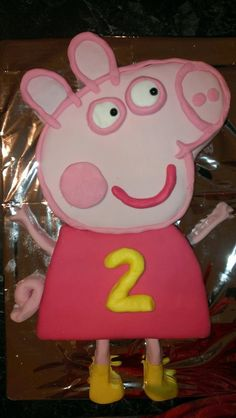 How to make a Peppa Pig cake