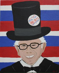 """Feel the Bern"" Artist: ELISA PADILLA 11x14 acrylic on canvas. SOLD"