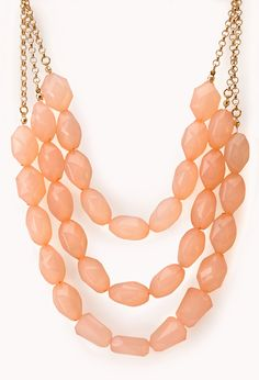 Chic Faux Gemstone Necklace | FOREVER21 - 1000126301