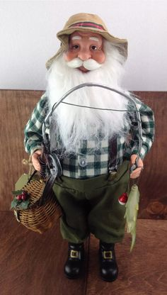 Fishing Santa Clause Holiday Decor New Port Saint Lucie, Bass Fishing, Harajuku, Santa Clause, Statue, Holiday Decor, Artwork, Consoles, Boats