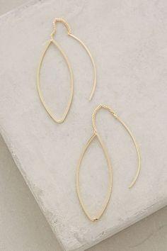 Threaded Almond Earrings - anthropologie.com