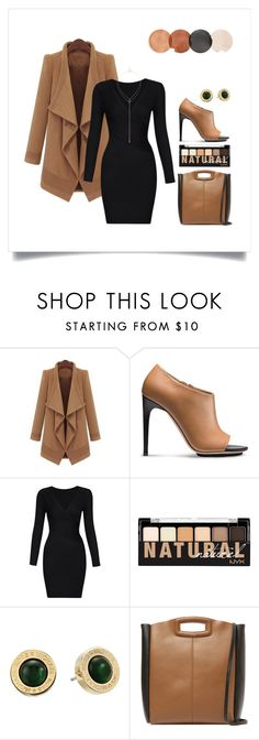 """Classic Camel Coat"" by silverheartwood ❤ liked on Polyvore featuring Calvin Klein, NYX, Michael Kors, Maje and Sole Society"