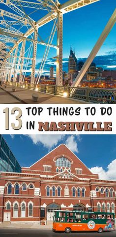 13 Top Things to Do in Nashville 2018 From famed honky-tonks to the legendary Grand Ole Opry, Nashville offers fun for the whole family. Here are 13 Top Things to Do in Nashville in Nashville Things To Do, Nashville Vacation, Visit Nashville, Tennessee Vacation, Nashville Tennessee, Nashville Attractions, East Tennessee, Attractions In Tennessee, Nashville Tours