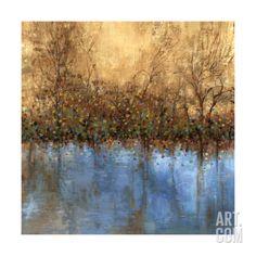 Indigo Landscape Stretched Canvas Print by Sloane Addison at Art.com