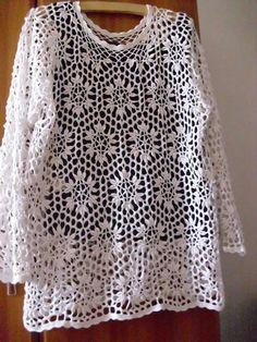 Pretty white crochet shirt