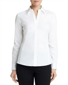 298.00$  Buy now - http://vijpx.justgood.pw/vig/item.php?t=29q9rh19818 - Lafayette 148 New York Katie Poplin Shirt 298.00$