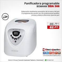 ¡Innova y elabora diferentes tipos de pan! PANIFICADORA BOMANN BBA 566 http://www.electroactiva.com/bomann-panificadora-bba-566.html #Elmejorprecio #Panificadora #Chollo #Electrodomestico #PymesUnidas