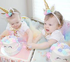 Unicorn Birthday Party Twin Girls Birthday Unicorn Cake