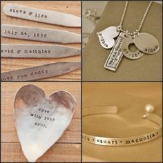 I love the stamped metal jewelry