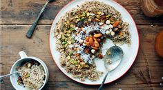 Coconut Quinoa with Nuts and Dates by @yehmolly