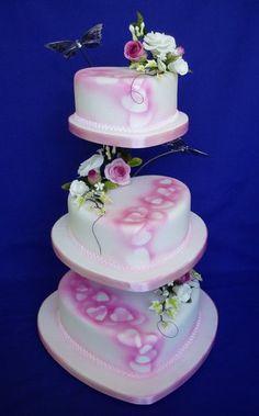 Gentle Hearts Wedding Cake
