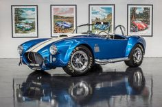 Such a beautiful blue on this Superformance MKIII. It really sticks out in the Hillbank showroom, as it does on the street. Shelby Cobra Replica, 1965 Shelby Cobra, 427 Cobra, Old Muscle Cars, Carroll Shelby, Love Car, Car In The World, Expensive Cars, Ford Trucks