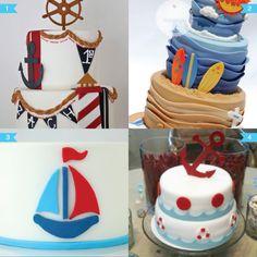 nautical cakes #nauticalparty #nauticalbabyshower #nauticalcakes